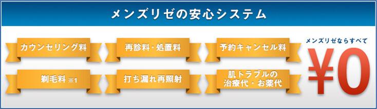 メンズリゼの料金システム